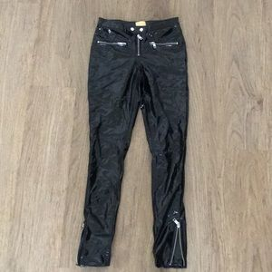 H&M Faux Leather Pants for sale